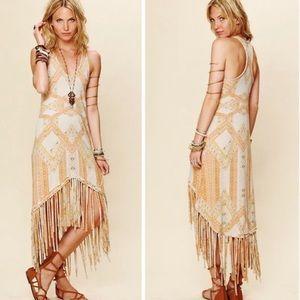 Free People Mauna Loa Fringe Dress